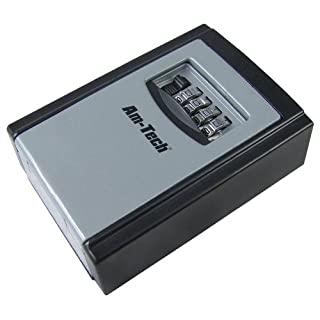 Secure Am-Tech 4-Digit Wall Mounted Key Storage Box - (Eco Packaging)