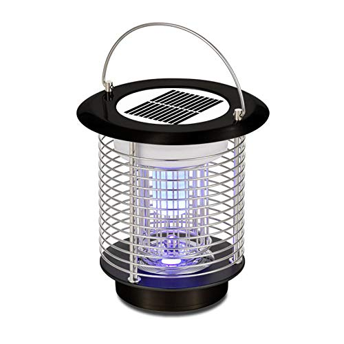 NKJBUVT Bug Fly Insect Moskito-Mörder Zapper Solar Electric Indoor Outdoor-Garten Moderne Mode LED-Licht Lampen Tragbare Moskito-Mörder Lampe Licht@D -