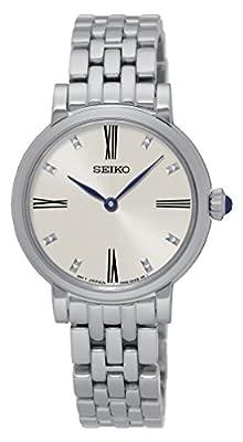 Seiko-Reloj de pulsera analógico para mujer cuarzo acero inoxidable sfq817p1