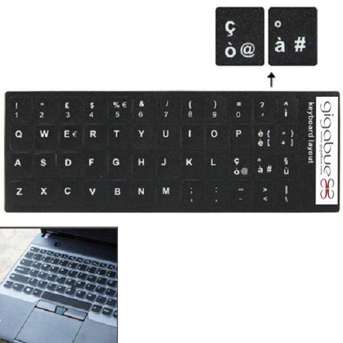 Italian Learning Keyboard Layout Sticker tasti neri adesivi per computer