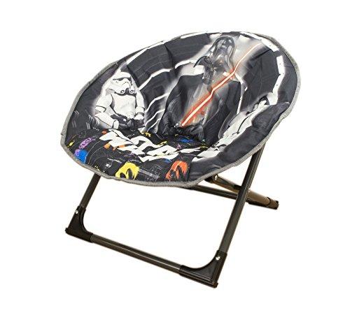 Allcam Disney Moon Stuhl Star Wars New Modell, zusammenklappbare Runde weiche gepolsterte Stuhl für Kleinkinder, Kinder