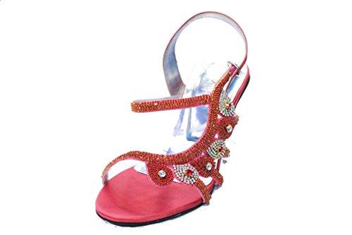 Wear & Walk UK , Sandales pour femme multicolore multicolore 36-42 Corail
