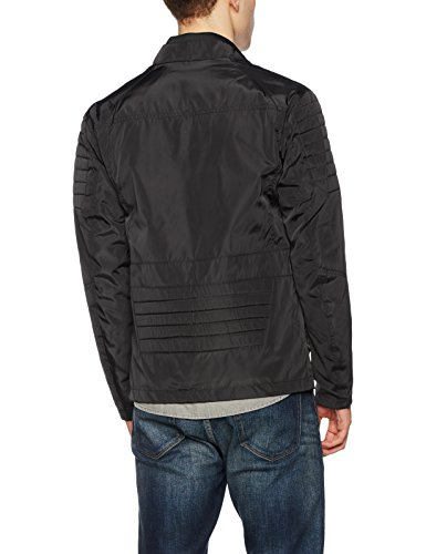 JACK & JONES Herren Jacke Jcoartis Biker Jacket Schwarz (Black Fit:One)