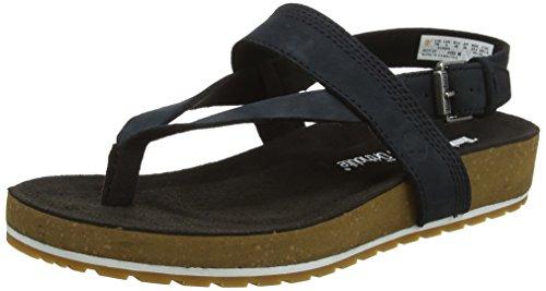 Ankle Strap Schnalle Sandale (Timberland Damen Malibu Waves Ankle Strap Sandalen, Schwarz (Black Nubuck 001), 40 EU)