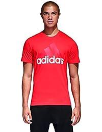 Adidas ESS Linear Camiseta, Hombre, (Rojo), L