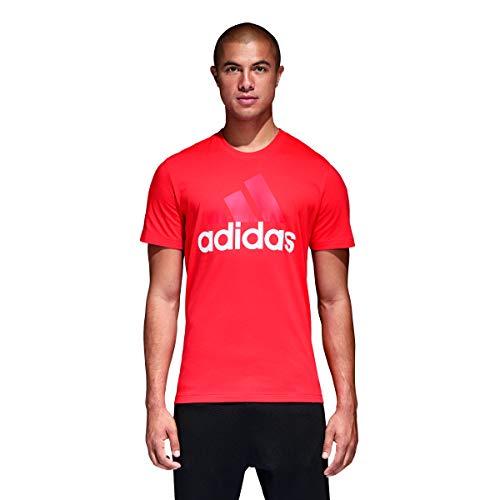 adidas Herren Essentials Linear T-Shirt Hi-Res Red S