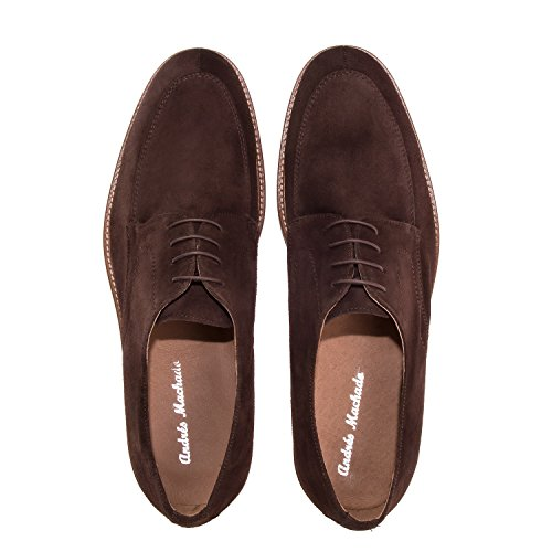 Andres Machado.6288.Chaussures Style Oxford Cuir .Pour Hommes.Grandes Pointures du 47 au 50.MADE IN SPAIN… Marron