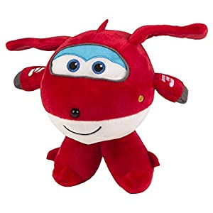 Super Wings- Peluche Jett, 23 x 18 cm, Color Rojo (ColorBaby 75876)