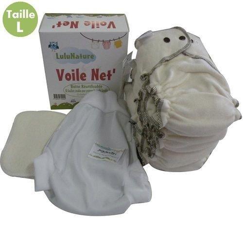 Preisvergleich Produktbild LULU NATURE - pack 4 couches lavable coton biologique - modulo bio - 3/6 kg