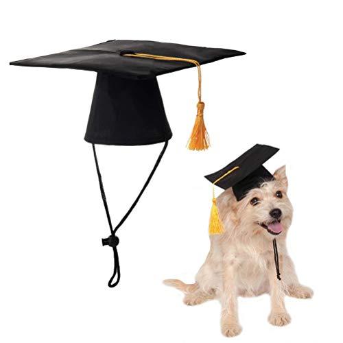 nd Hut Dr. Hut Dekoration Hund Benutzerdefinierte Graduierung Kappe Hund Grad Kopfbedeckung Für DIY Haustier Kreative Party Zubehör-Schwarz ()