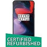 (Certified REFURBISHED) OnePlus 6 (Mirror Black 8 GB RAM +128GB)