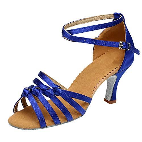 Epig Womens High Heel Tanzschuhe Latin Salas Schuhe aushöhlen Sandalen Ballsaal Waltz Schuhe Moc Womens Slip