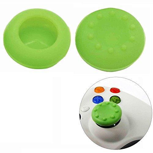 Preisvergleich Produktbild 1 Paar Joystick Thumbstick Kappe Kappen für PlayStation 4 PS4 Controller Grün