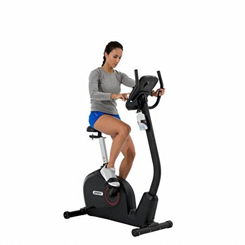 Spirit Upright Bike DBU 60 – Heimtrainer, Fitness Indoor Bike, Ergometer mit Hand-Puls-Sensoren - 4