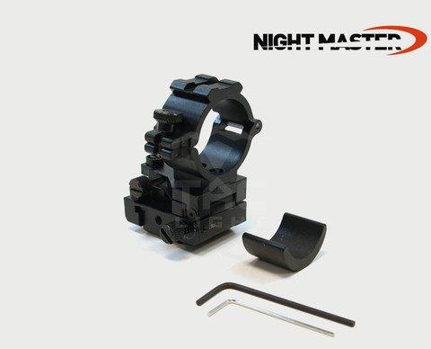 Night Master Herren vollständig Schiene Halterung mit windeinfluss und bodenerhebung Anpassung, Schwarz (Halterung Verstellbare Schiene)