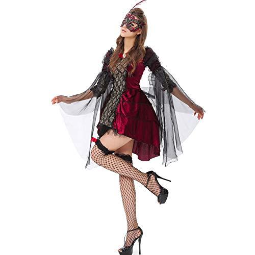 Ball Kostüm Vampir - AIXIAOYU Frauen Rollenspiel Kostüme Vampir Teufel Ball Uniformen Halloween-Kostüme