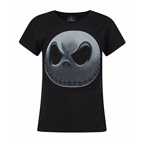 istmas Kinder/Mädchen Jack Skellington T-Shirt (Jahre (9-10)) (Schwarz/Weiß) ()