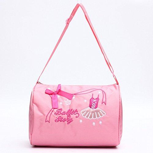 Kungfu Mall, mini borsone in tela, borsa a tracolla per ballerine. Zaino da danza per ragazze e bambine, colore rosa