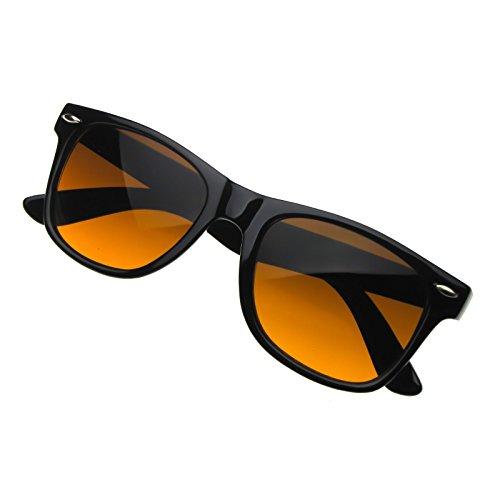 Kiss Sonnenbrille BLUE BLOCKER mod. BLUES BROTHERS - gelben Gläsern vs. Licht Blau VINTAGE mann frau - SCHWARZ