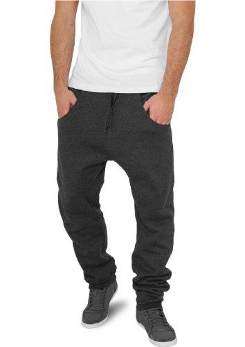 """Urban Classics pantaloni da jogging """"deep forcella in felpa"""", dimensioni: M, colore: Nero carbone"""
