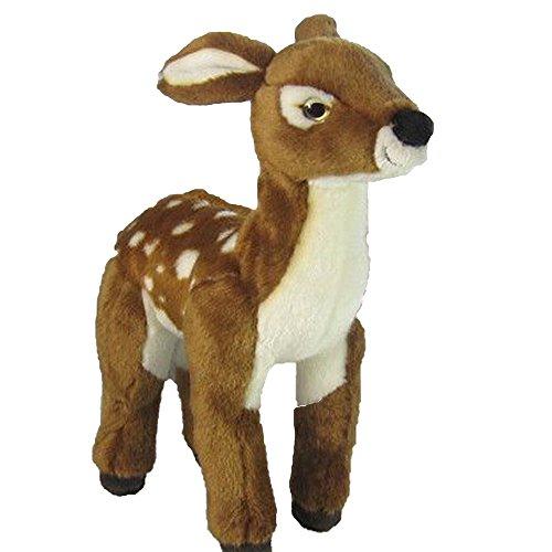 Uni-Toys Plüschtiere, Stofftiere, Kuscheltiere ca. 25 - 35 cm (Rehkitz, braun-weiß)