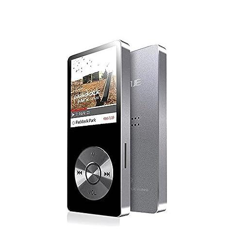 cfzc 8 GB Metall Körper MP3-Player integrierter Lautsprecher Musik Player (Mico SD-Karte erweiterbar auf bis zu 128 GB) mit HD Kopfhörer/Voice