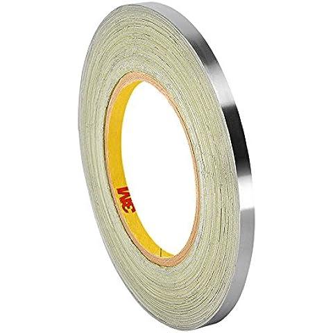 tapecase 4200,313pulgadas x 36YD Plata oscuro Lámina De Plomo/cinta adhesiva de goma, linered tape-converted de 3M, 60–225Grado F Rendimiento Temperatura, 0.0068