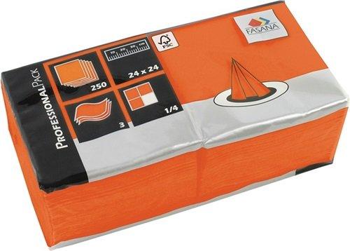 NORDWEST Handel AG FASANA Serviette 217673 24x24cm 3lagig orange 250 St./Pack.