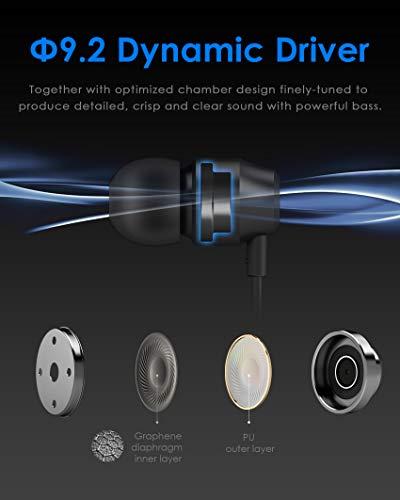 PALOVUE Earflow In-Ear Lightning Kopfhörer Magnetischer MFi Zertifizierter Ohrhörer mit Mikrofon-Controller für iPhone X/XS/XS Max/XR iPhone 8 / P iPhone 7 / P (Metallic Schwarz) - 3