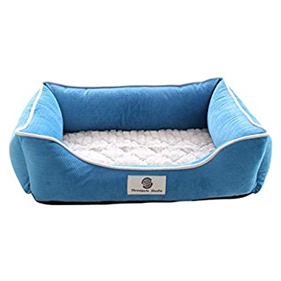 66ccwwww Pet bed Pet nest, kennel cat litter small dog medium dog winter warm pet nest washable dog house (M, L) by mal