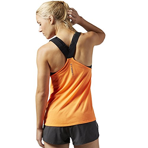 Reebok Damen Les Mills Cotton Tech Tank Ärmelloses Shirt Electric Peach
