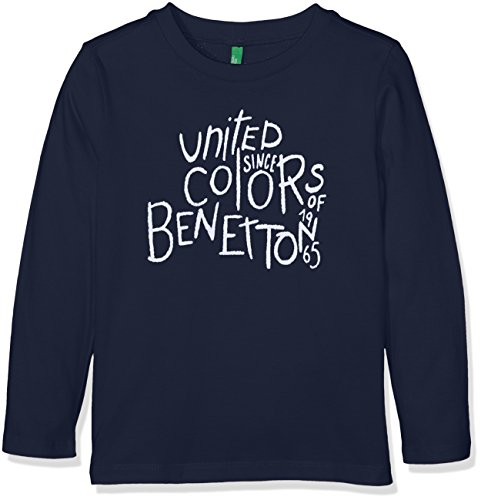 united-colors-of-benetton-jungen-t-shirt-l-s-blau-navy-7-8-jahre-herstellergrosse-medium