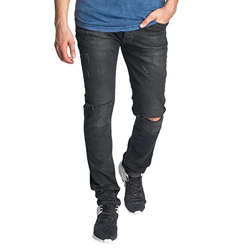 Red Bridge Herren Jeans / Straight Fit Jeans Baku Schwarz