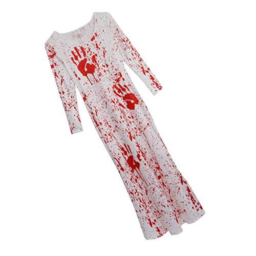 P Prettyia Gruseliges Bedrucktes Blutiges Zombie Kleid Halloween/Karneval / Party Cosplay Kostüm - S oder M