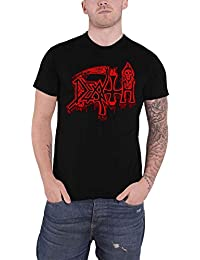 Death T Shirt Life Will Never Last Classic Band Logo Official Mens Black