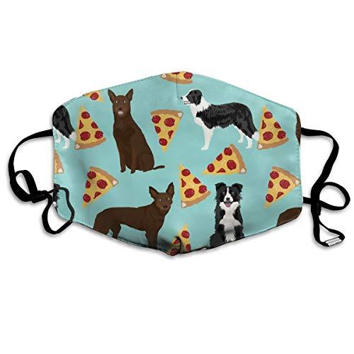 und Border Collies Pizza süße Hunde süße Pizzass australische Kelpies süße Hunde Anti-Staub-Maske Anti-Verschmutzung waschbar wiederverwendbare Mundmasken ()