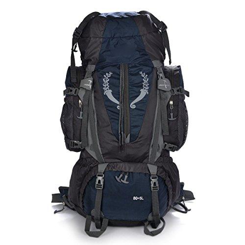 80L Leggero Zaino Pieghevole Ultralight Viaggio Escursioni Camping Daypack Outdoor Outdoor Rucksack,Blue DarkBlue