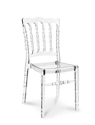 Plexiglas Acryl Ghost chair Vintage Hochzeit Stuhl Transparent Durchsichtig. Abbildung in Transparent klar.