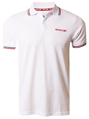 Nickelson Herren Poloshirt Weiß - Weiß (Optic White)