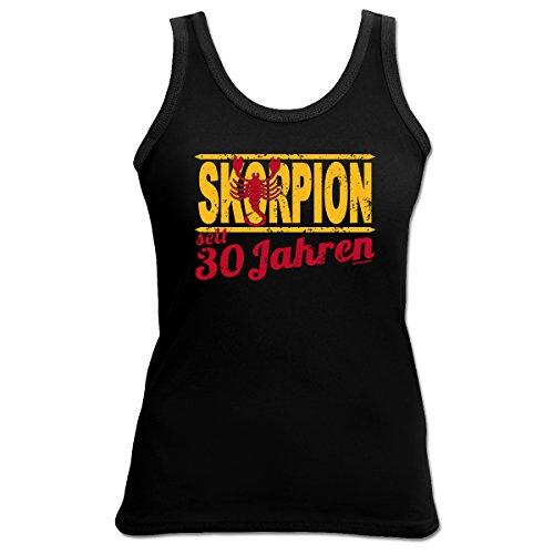 29c7e9211a5e33 Sexy Tank Top mit Sternzeichen exklusiv zum 30. Geburtstag - Skorpion seit  30 Jahren -