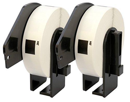2x Brother DK-11204 17 x 54 mm Rollos de Etiquetas multipropósito (400...