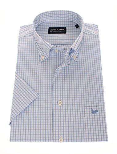 778621-L Bots & Bots - Kurzarm Shirt - 97% Cotton / 3% Lycra - Comfort Stretch - Button Down - Normal Fit (Lycra-hemd)
