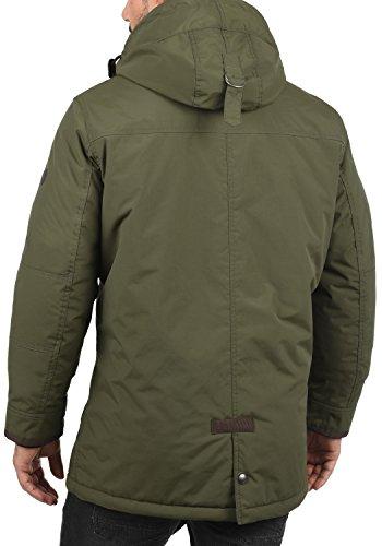 SOLID Dempsey Herren Parka lange Winterjacke Mantel mit Kapuze aus hochwertiger Materialqualität Ivy Green (3797)