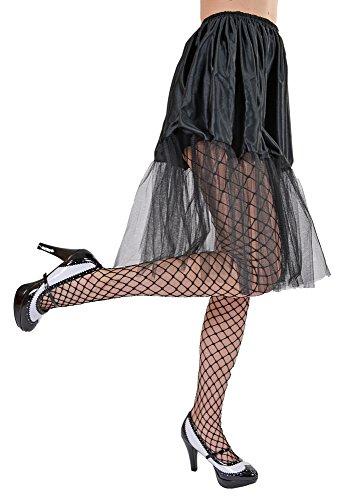 Petticoat Tüll Rock Damen Schwarz