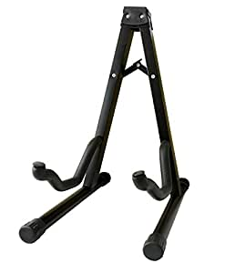 feibrand folding a frame guitar stand black for acoustic bass and electric guitars. Black Bedroom Furniture Sets. Home Design Ideas