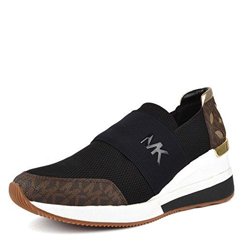 Michael by Michael Kors Zapatos Felix Zapatillas Negro y Marron Mujer
