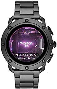 Diesel Axial Men's Multicolor Dial Stainless Steel Digital Smartwatch - DZT