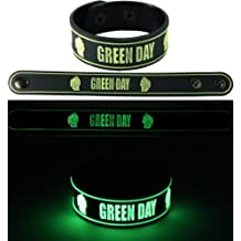 Green Day Eminem 2pcs nuevo. Glow In The Dark pulsera Wrist Band 2x 92G5