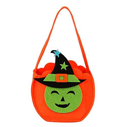 Halloween Süßigkeits Beutel, QinMM Halloween Schläger Beutel Kürbis Katze Teufel Beutel Kind Süßigkeit Handtaschen Eimer Kinder ()