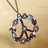 Alcoa Prime Hot!Gorgeous Anti-war Peace Sign Flower Power Necklace A+ Charming